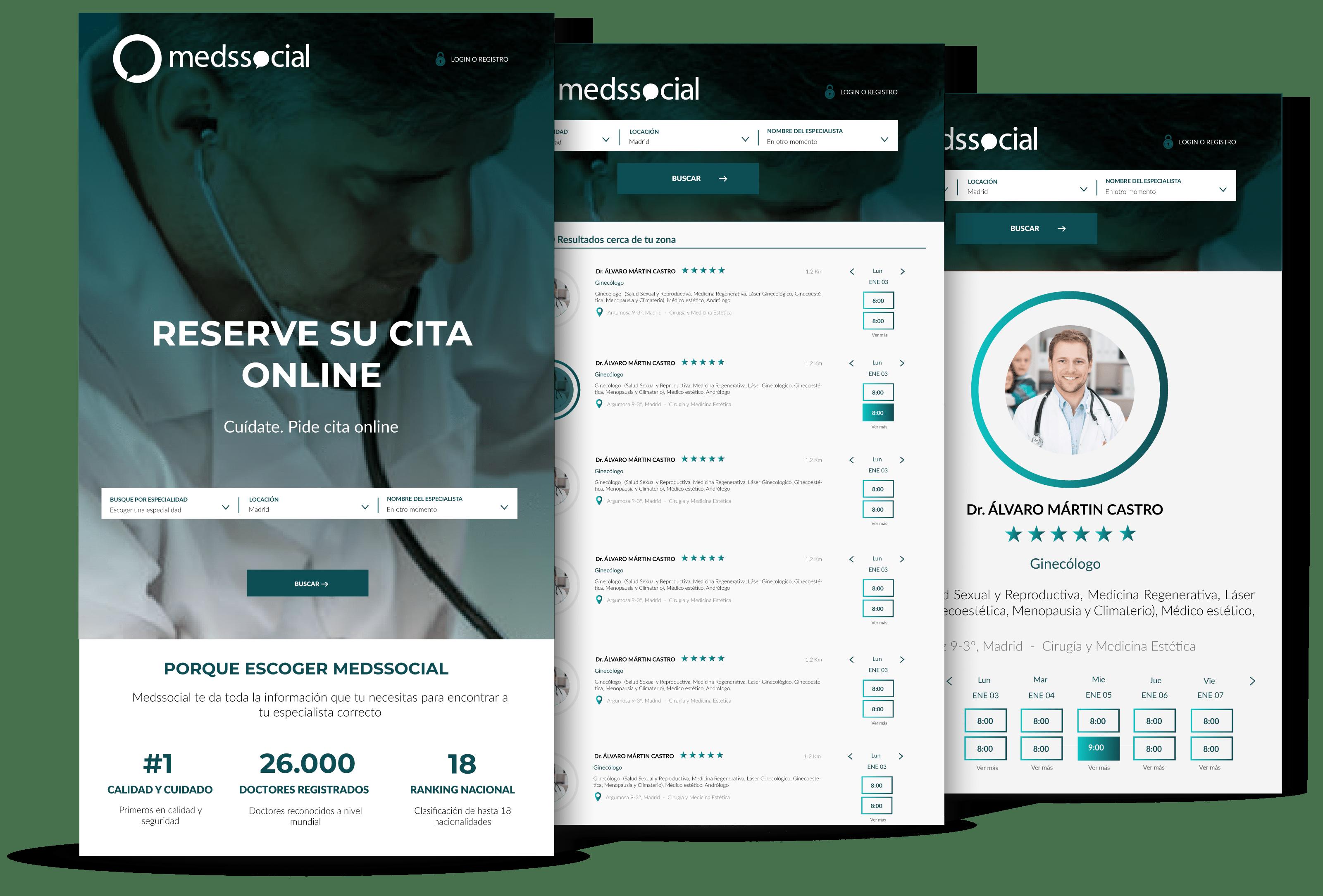 Buscador médico medssocial