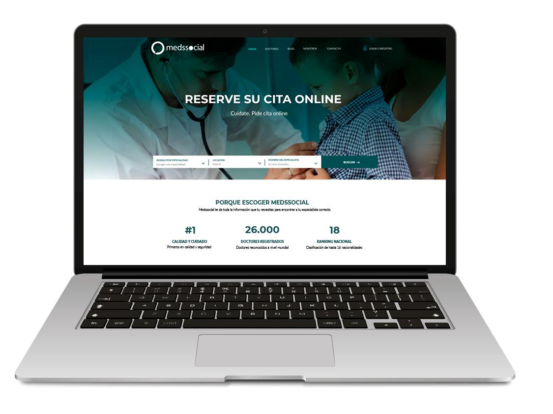 Portal cita médica online medssocial